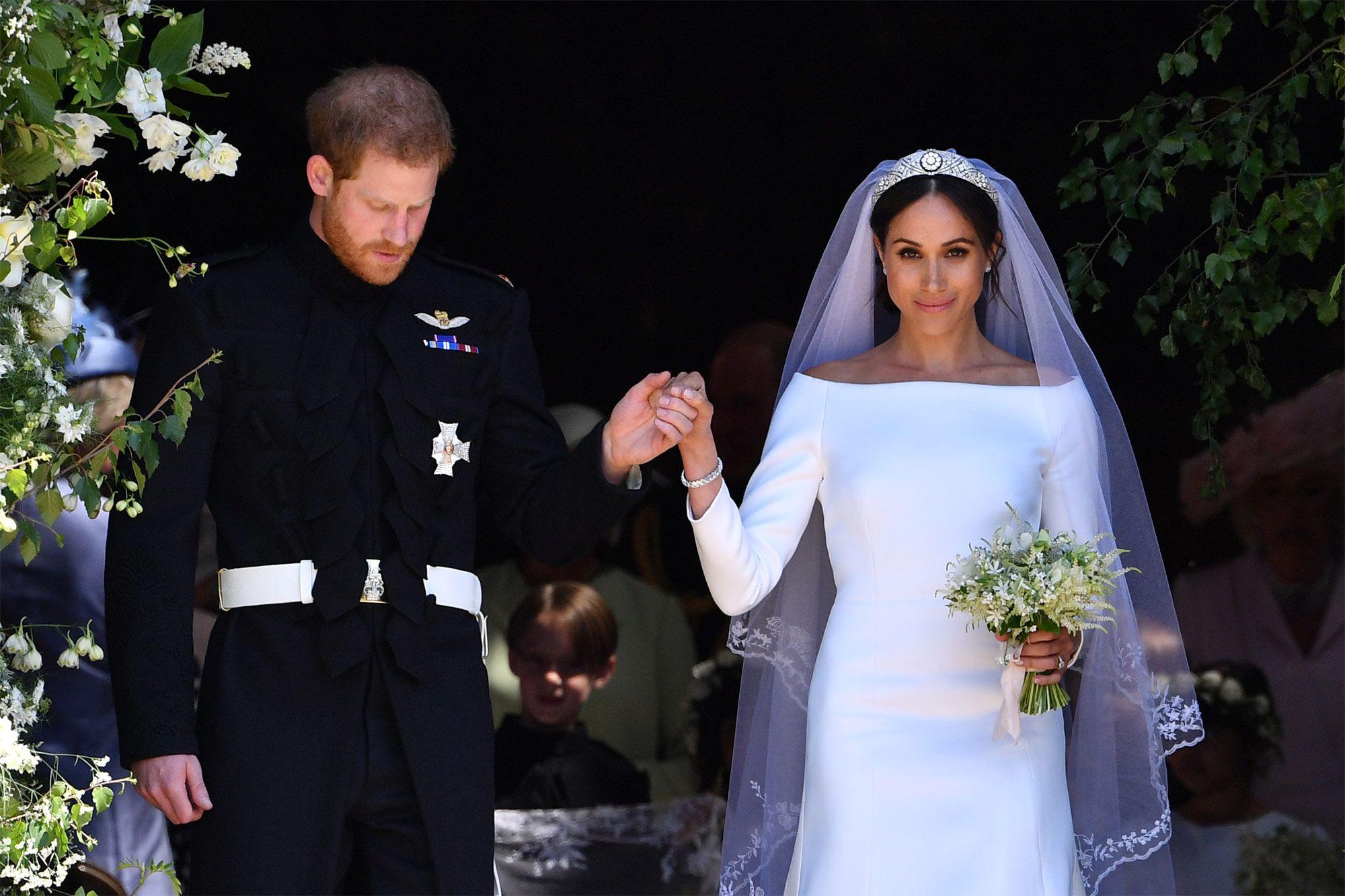 d7c095fdb Así fue el vestido de novia que Meghan Markle llevó en su primera boda - En  la primera boda de Meghan Markle el vestido era muy diferente al de la  segunda
