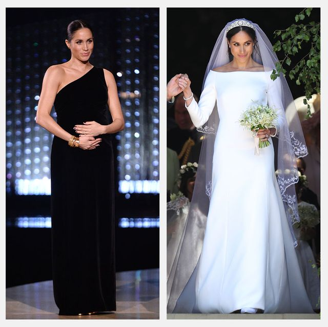 meghan markle wearing givenchy dress wedding fashion awards