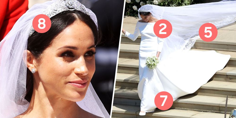 10 things you missed about meghan markle�s two wedding dresses