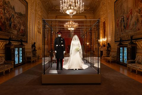 b5a329dd0 Inside the Duke and Duchess of Sussex's wedding outfits exhibition at  Windsor Castle