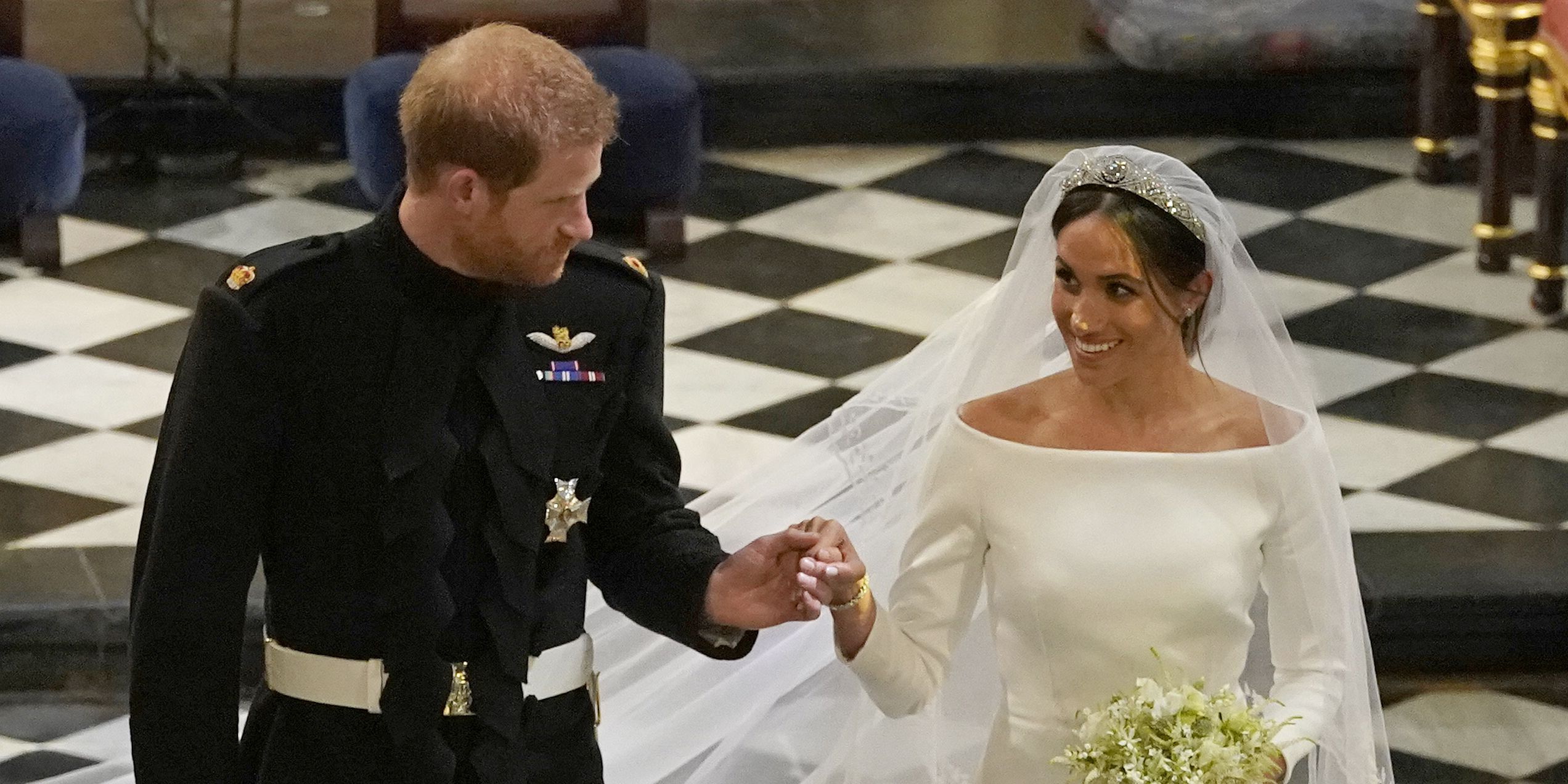 Meghan Markle's wedding bouquet of flowers