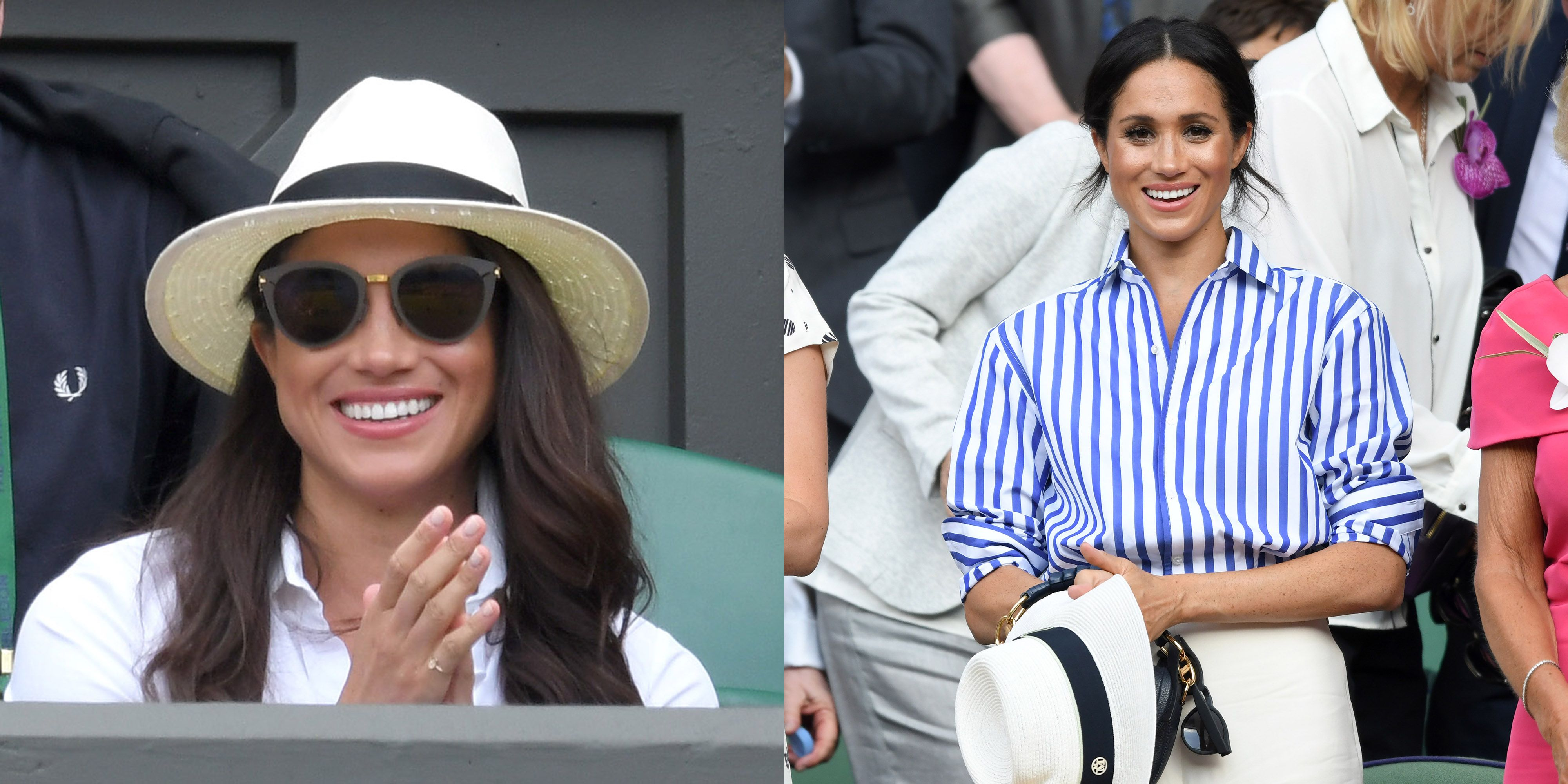 ea3e2aa25b9 Here s Why Meghan Markle Wasn t Allowed to Wear a Hat at Wimbledon This Year