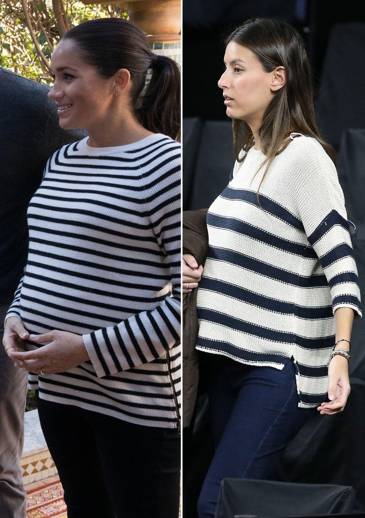 Meghan Markle y sus looks premamá triunfan entre las famosas españolas que están embarazadas. Isabel Jiménez, Helen Lindes y Sara Sálamo son algunas de las celebs que ha llevado looks similares a los de la duquesa de Sussex.