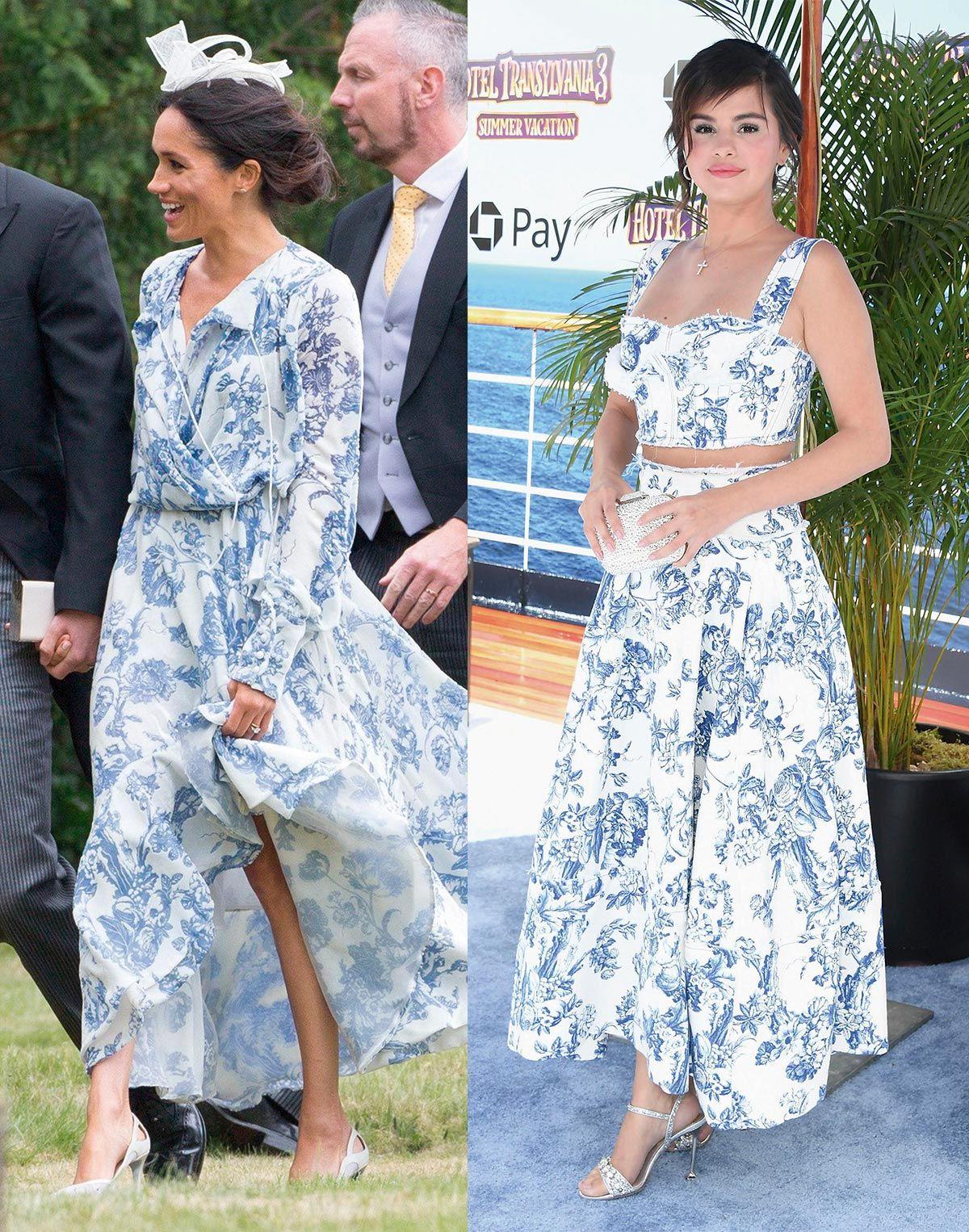 Meghan Markle y Selena Gómez vestida iguales