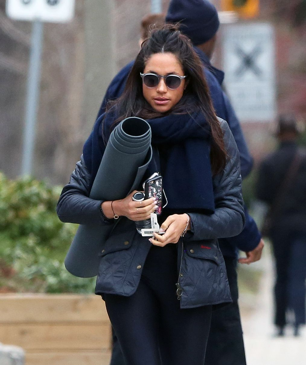 Meghan Markle Takes a Public Yoga Class Shortly After Landing in New York City