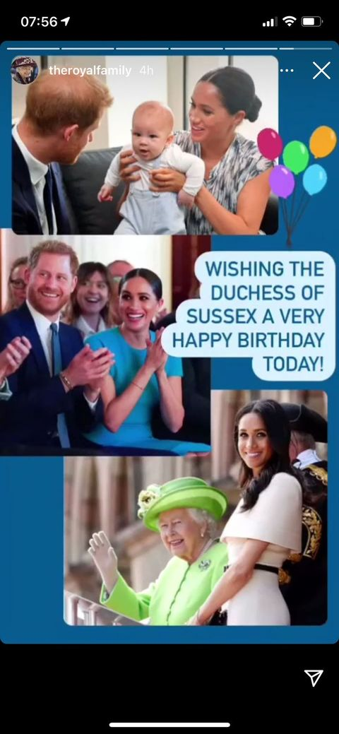 the queen's birthday tribute to meghan in 2021