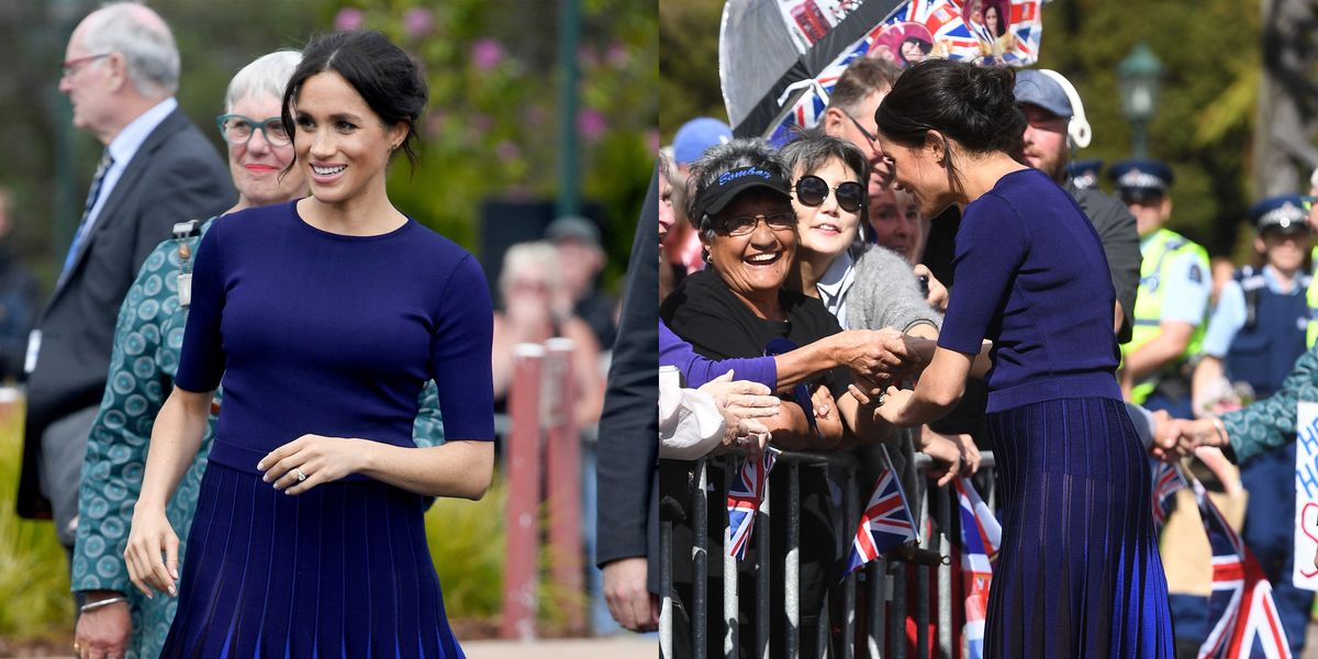 c9879f6bed2 Meghan Markle s Royal Tour Wardrobe Malfunction Is Relatable as Duchess  Wears Sheer Skirt