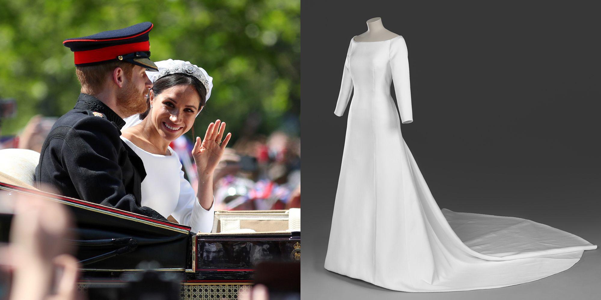 Meghan Wedding Dress.Kensington Palace Unveils Meghan Markle S Wedding Dress Tiara And