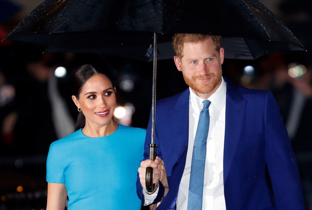 london, united kingdom   march 05 embargoed for publication in uk newspapers until 24 hours after create date and time meghan, duchess of sussex and prince harry, duke of sussex attend the endeavour fund awards at mansion house on march 5, 2020 in london, england photo by max mumbyindigogetty images