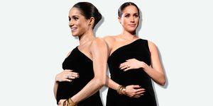 Meghan Markle pregnant - meghan markle cradle baby bump
