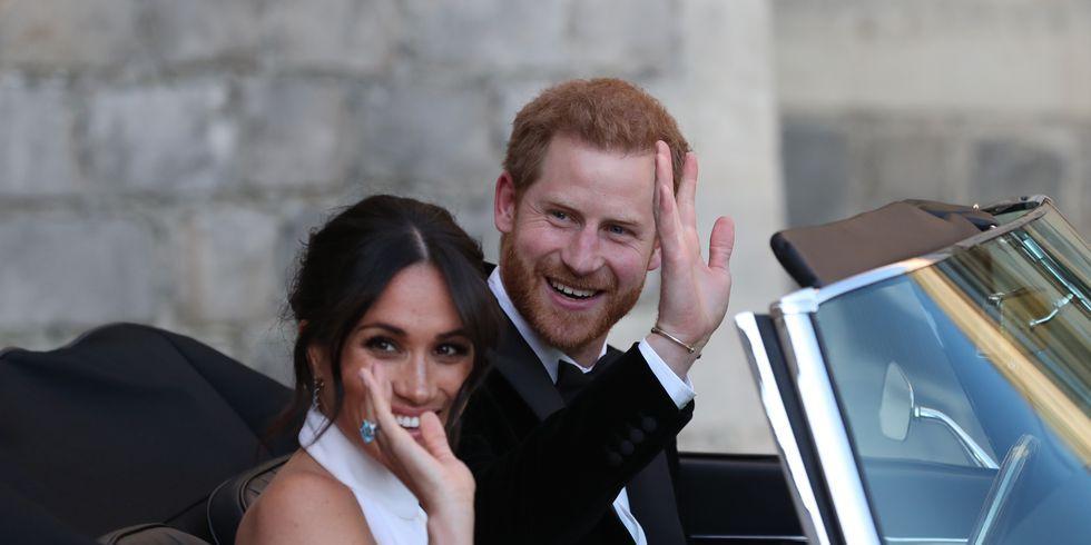 Meghan Markle, Prins Harry, Stella McCartney, jurk twee, receptie, trouwjurk, tweede jurk, Givency, huwelijk, royal wedding