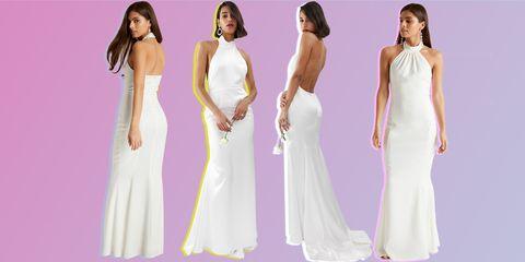 c3a9a1c65328e ASOS EDITION halter backless maxi wedding dress