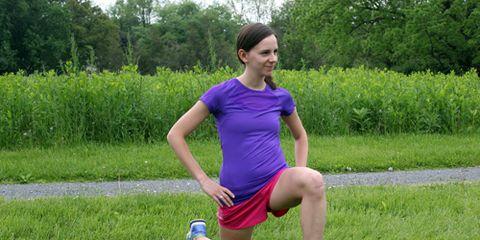 Meghan Loftus Stretching After a Run