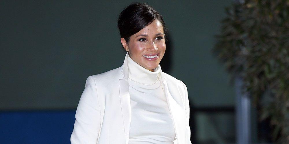 Meghan Markle White Calvin Klein Dress