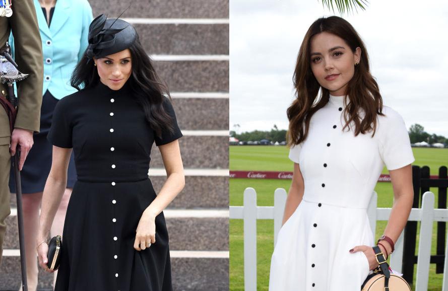 8a4bf889680 Meghan Markle Wore the Same Dress as Prince Harry s Ex-Girlfriend Jenna  Coleman