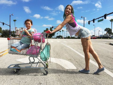 product, fun, baby carriage, public space, footwear, summer, leg, vehicle, leisure, recreation,
