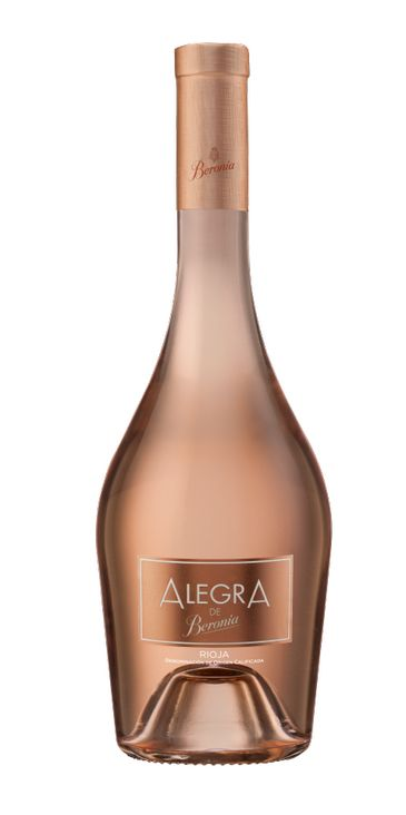botella de alegra, vino rosado de beronia