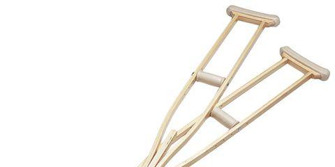 A pair of crutches