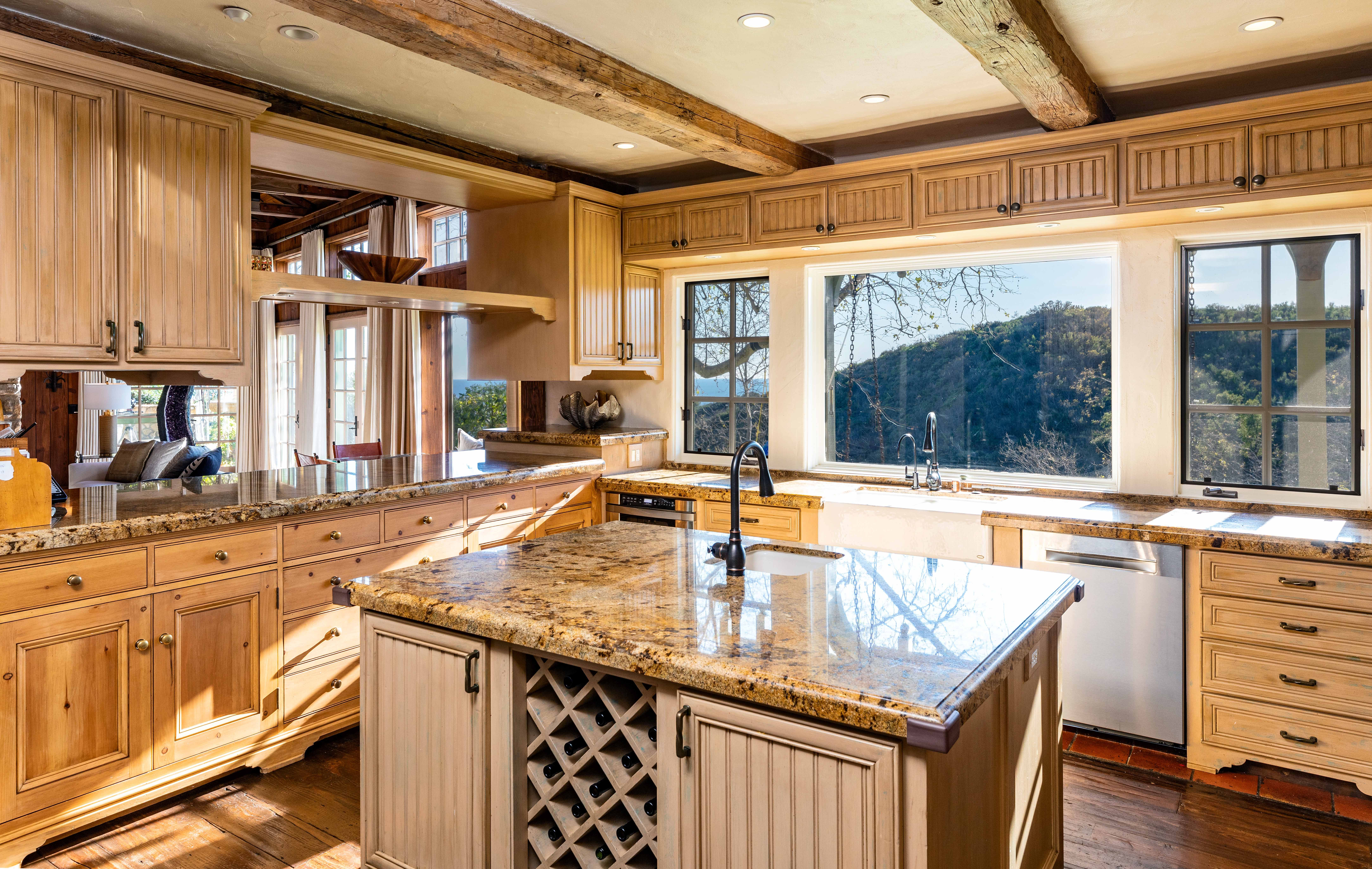 This is the French country kitchen.