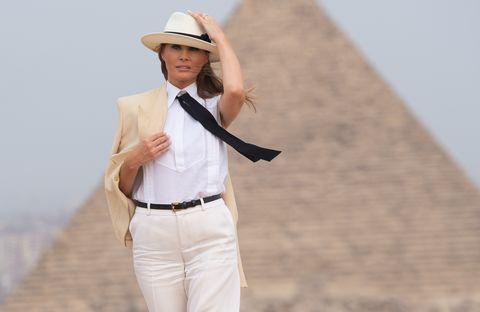 White, Clothing, Hat, Suit, Formal wear, Beige, Headgear, Outerwear, Fashion accessory, Fedora,