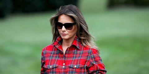 Melania Trump Plaid Shirt sunglasses