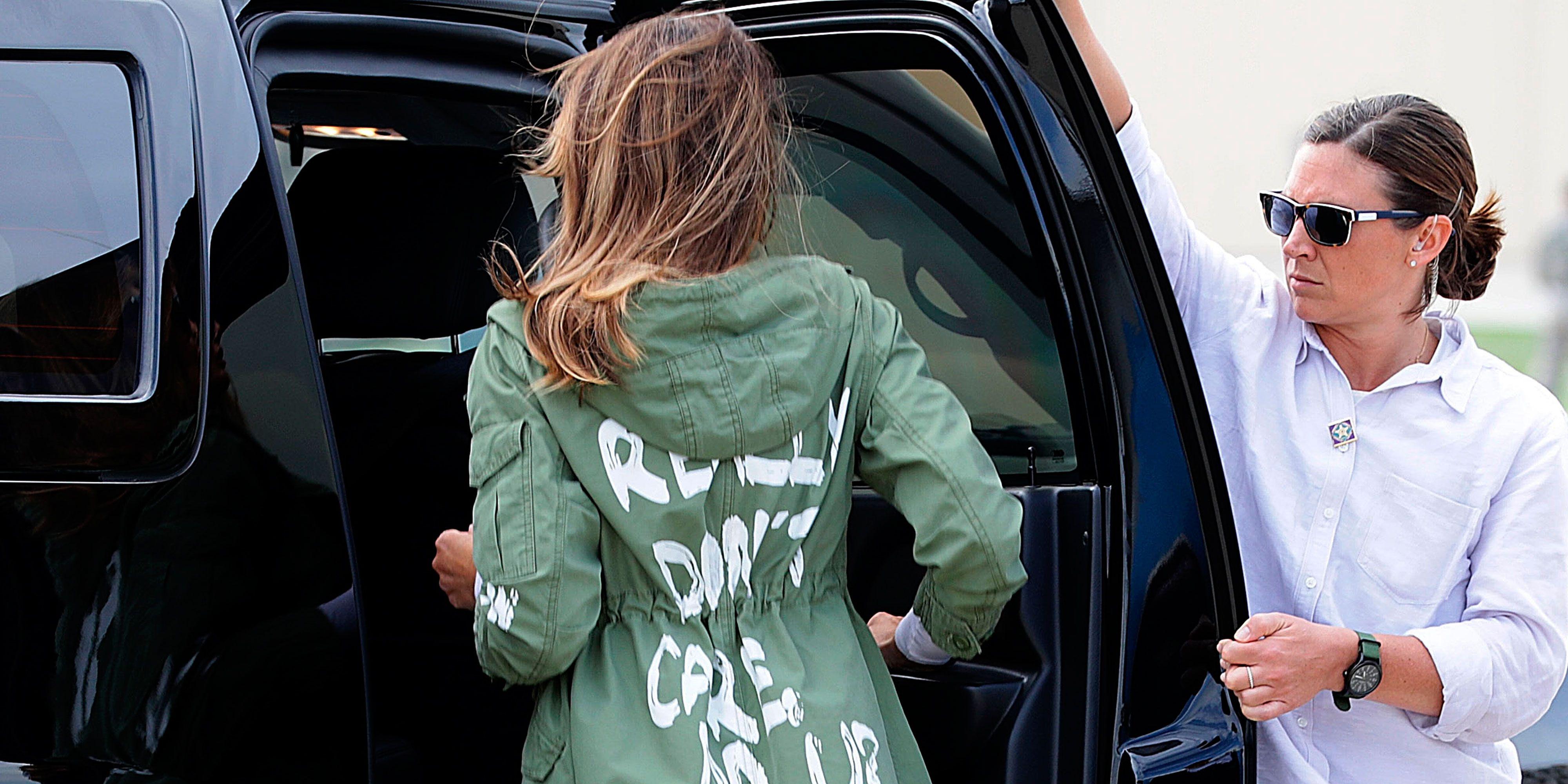 Melania Trump responds to controversial Zara jacket critics