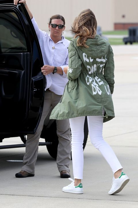 85e9e571a6 Melania Trump s controversial Zara jacket is selling for more than ...