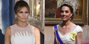 Melania Trump y Kate Middleton, duelo de estilo en el palacio de Buckingham.