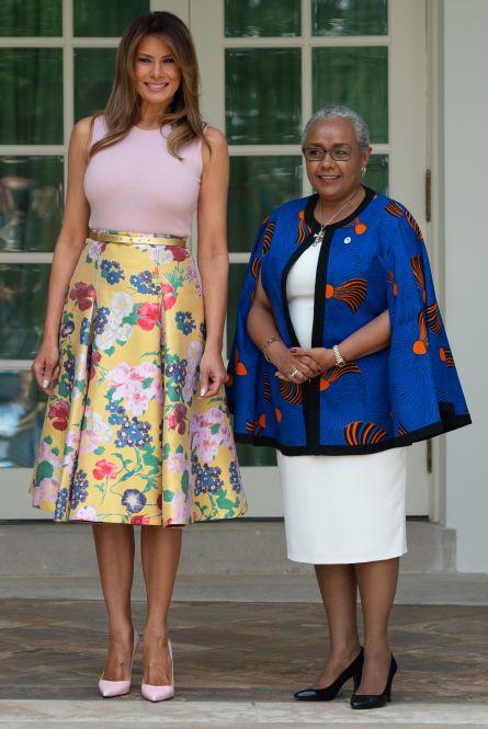 Melania Trump withMargaret Kenyatta