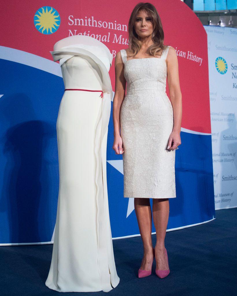 Melania Trumps Most Talked About Looks Trump Fashion Jfashion Korean Style Double Layer Blouse Ivanka