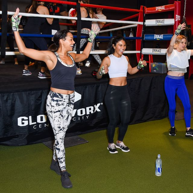 Women's Health National Workout Buddy Day At Gloveworx LA