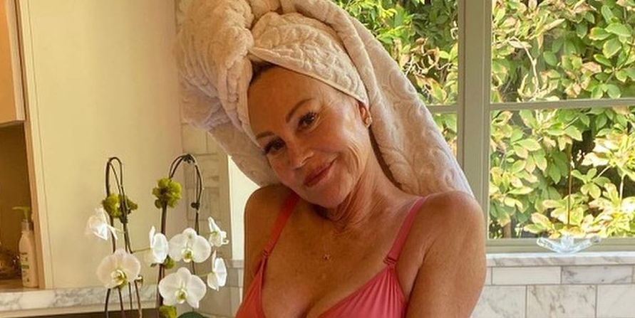 At 63, Melanie Griffith Just Shared a Sexy Lingerie Photo for Breast Cancer Awareness