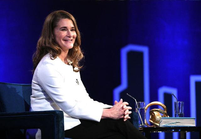 new york, new york   february 05 melinda gates speaks onstage at oprahs supersoul conversations at playstation theater on february 05, 2019 in new york city photo by bryan beddergetty images for thr