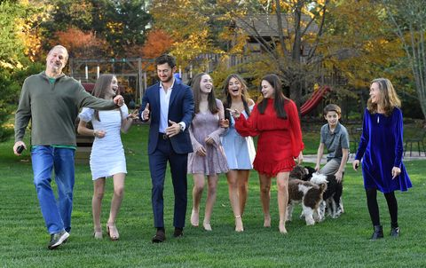 melissa and doug bernstein of melissa and doug, pictured with their six children in connecticut