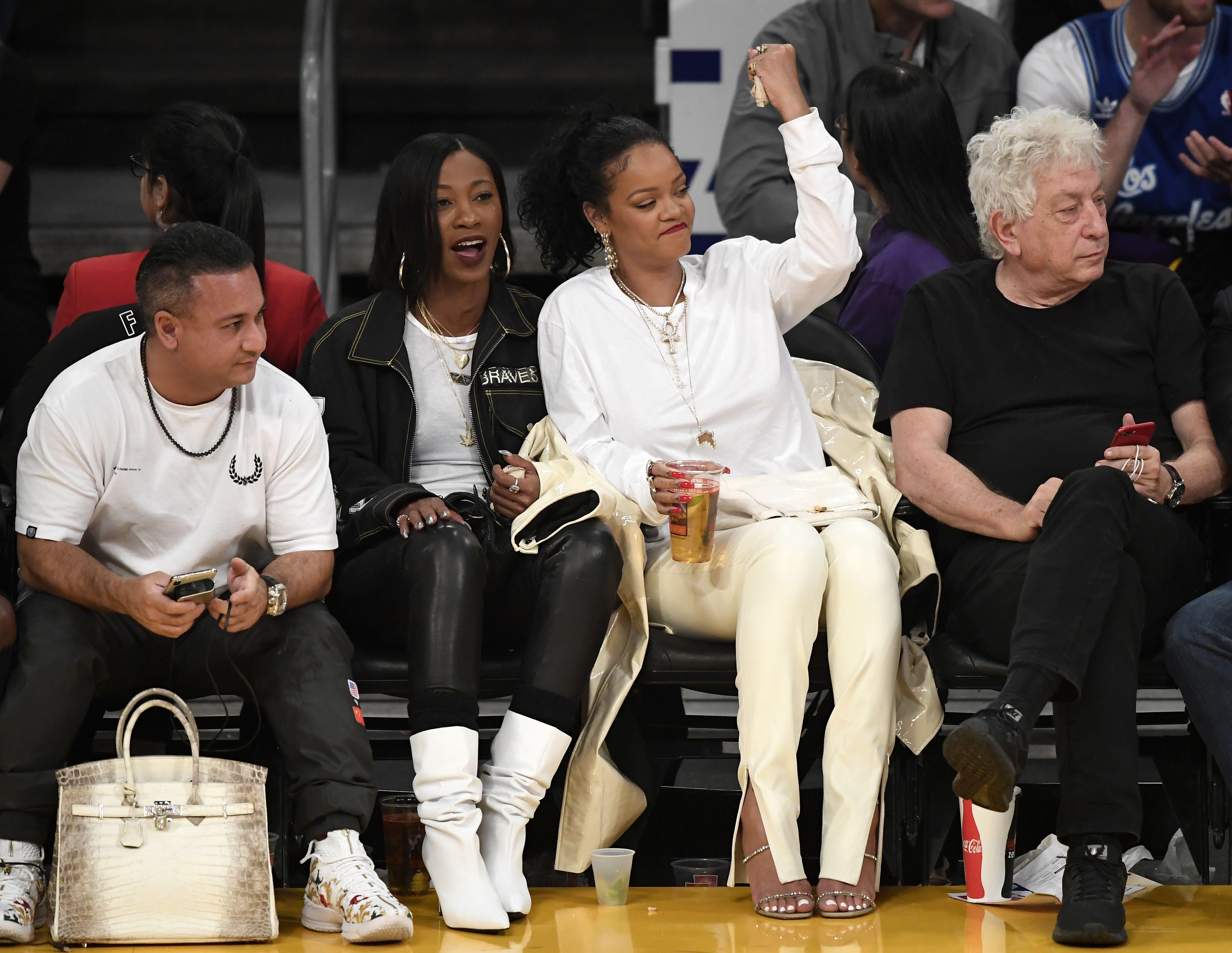 Rihanna Watching Sport Rihanna At Football And Basketball