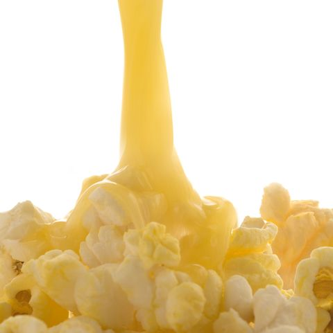 Melted butter on popcorn