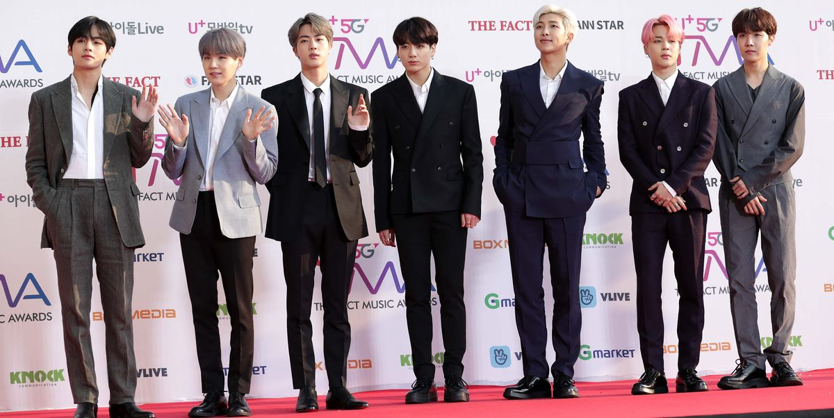 members of boy band bts attend the photocall for u plus 5g news photo 1144916874