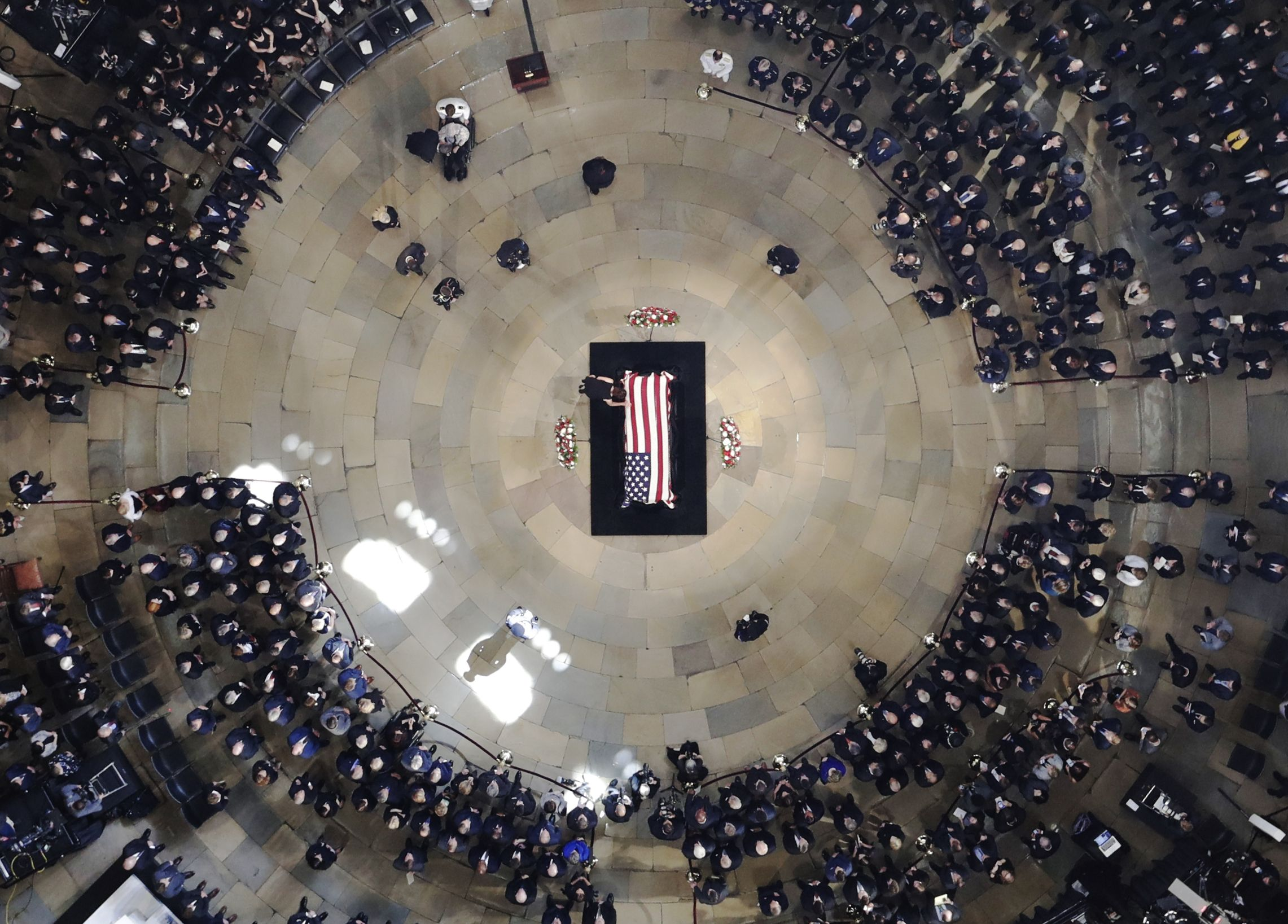 Sen. John McCain (R-AZ) Lies In State In The Rotunda Of U.S. Capitol