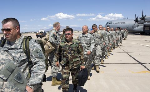 Kentucky National Guard Arrives In Arizona