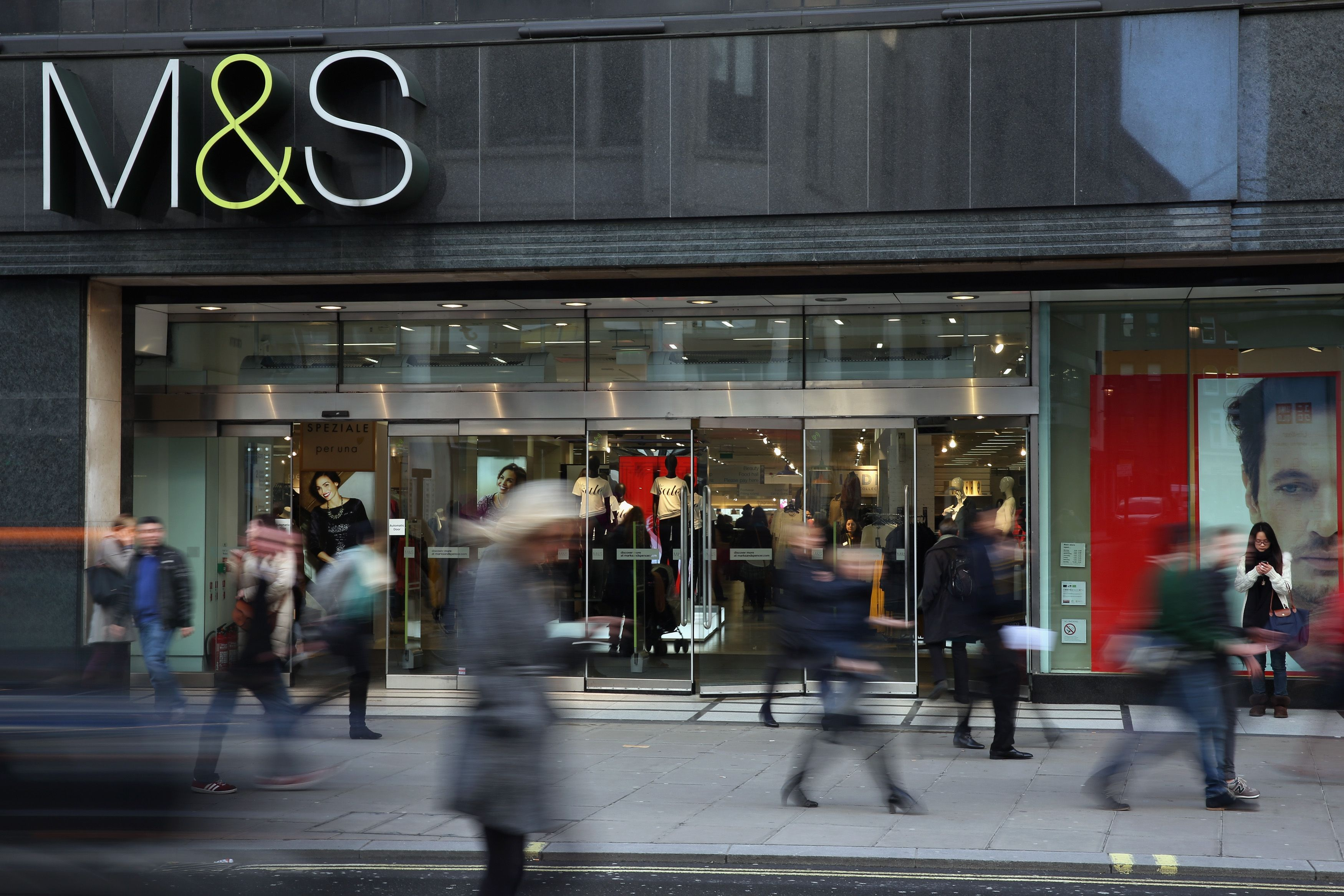 Marks & Spencer is selling the checked coat of the season
