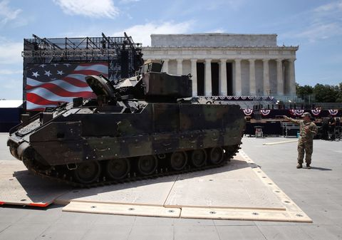 Washington Prepares For President Trump's Speech On The Fourth Of July