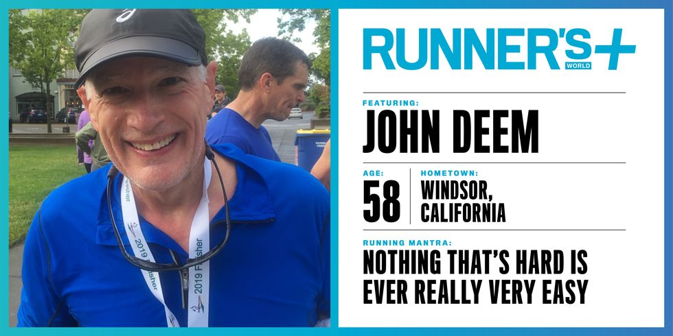 Runner's World+ Member: Jon Deem