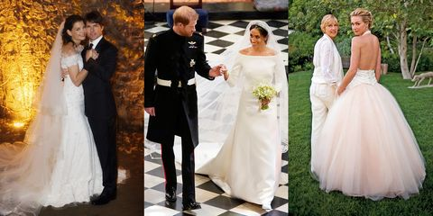 f7288684d4324 30 Most Memorable Celebrity Wedding Dresses