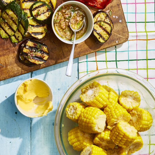 grilled side dishes on table