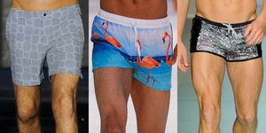 Men's short swim trunks