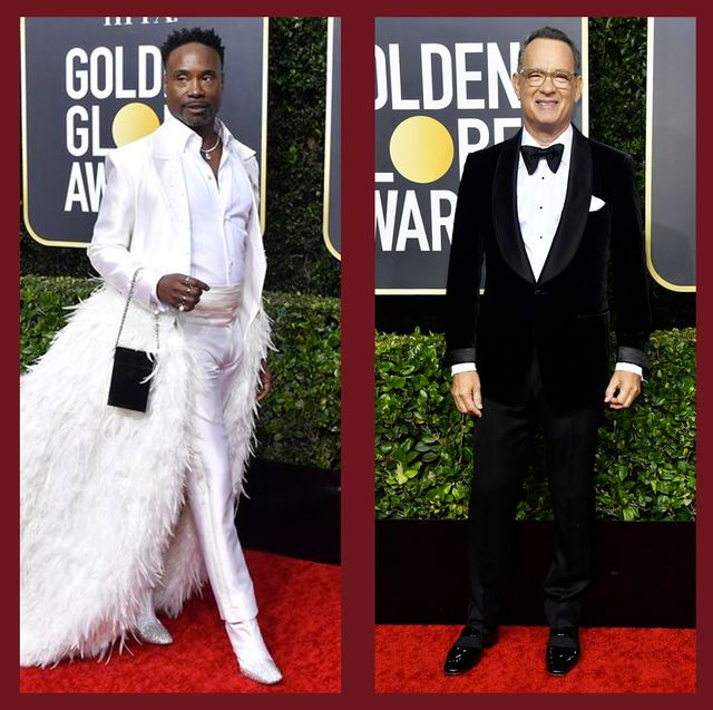 The Best Dressed Men At The 2020 Golden Globes Mens Tuxes And Suits On The Golden Globes Red Carpet