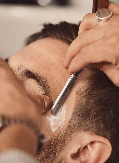Hair, Eyebrow, Forehead, Face, Skin, Facial hair, Hairstyle, Eyelash, Beauty, Nose,