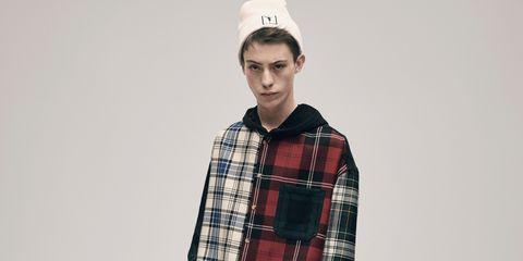 Plaid, Tartan, Collar, Sleeve, Dress shirt, Pattern, Textile, Shirt, Cap, Style,