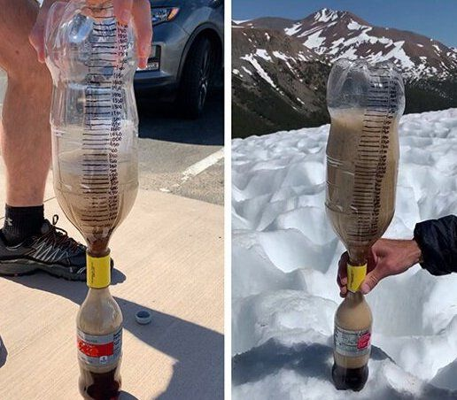 Watch Scientists Conduct the Mentos and Diet Coke Experiment at 14,000 Feet