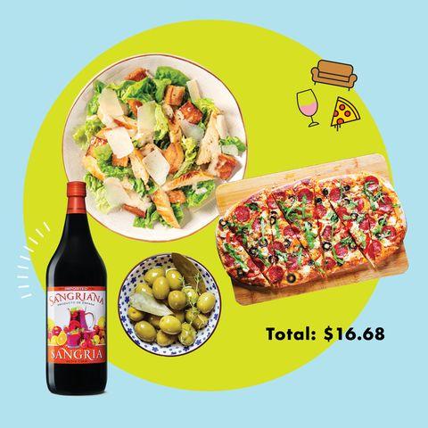 dîner italien à 3 plats sur un budget d'aldi